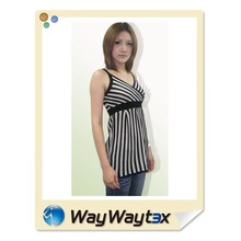 2015 sexy style stripe pattern salsa dance dating woman dress