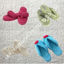 Indoor,bedroom,house use cotton ladies high quality flip flops