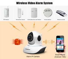 combines pir sensor, window/door sensor etc. with T7838WIP-AR alarm ip camera wireless home security alarm camera system
