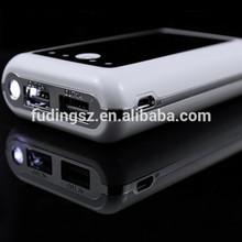 metal side+dual output+torch light,6000mah harga power bank