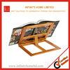 Hands Free Folding Adjustable Wood Cookbook Holder and Book Stand