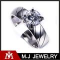 el tono de plata corte aaa de cristal de acero inoxidable anillo de boda para las mujeres