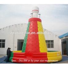 Eco-friendly PVC tarpaulin rocket outdoor climbing wall inflatable
