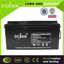 Long time warranty maintenance free ABS casing solar panel battery 12v 150ah