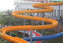 Extra long loop fiberglass water slides
