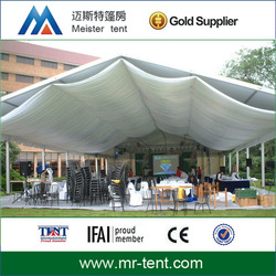 Large wedding marquee tent with drapery 300 seaters