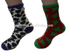Womens cozy home crew sock