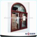 de madera de doble ventanal de arco ventana toldo