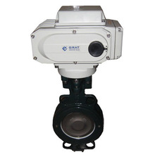 Electric actuator butterfly valve triple eccentric butterfly valve