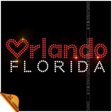 US state Orlando rhinestone iron on transfers florida