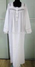 White cotton nightgown