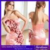 Best Selling High Quality Sheath Strapless Rare Back Handmade Flower Appliqued Beaded Knee Length 2014 Cocktail Dresses(CD-040)