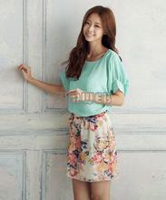 Women's Charming SummerShort Sleeve chiffon dress batwing sleeve SV004309