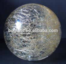 popular global crepitar de vidro da lâmpada sombra