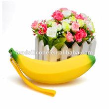 HOT NEW design banana Silicone Bag ,Silicone Purse.silica gel coin purse