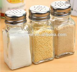 80ml glassware spice jar,glass cruet for salt