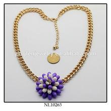 Big Resin Flower Pendant Light Weight Gold Hidden Camera Necklace