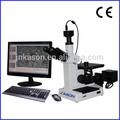 مجهر ثلاثي العينيات المعدنية مقلوب 4 xce المستخدمة لتحديد المعادن مع الكاميرا