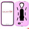 Heavy Duty touch shock proof hard case cover with built-in kick stand & screen guard for samsung galaxy S4 i9500