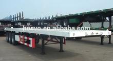 Flatbed container semi trailer / skeleton or flatbed platform selectable