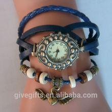 2014 new ladies watch brand Vintage Genuine Cow leather women's wristwatches Quartz women dress watch