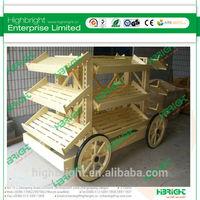 wooden bakery bread display racks wagon style bread display gondola