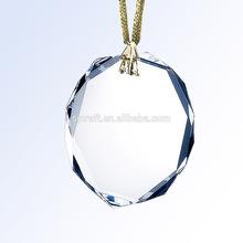 Oval Christmas Decoration Crystal Ornaments Glass Ornaments Custom Ornaments for Christmas Decoration