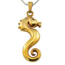 24K gold sea food jewelry Seamaster pendant