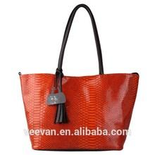 real snake skin bag,hot orange python skin handbag,patent leather handbags