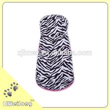 zebra grain printing plush dog coat/pet coat