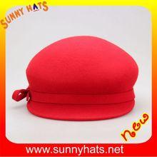 Elegant 100% wool ladies fashion felt hats very beautiful