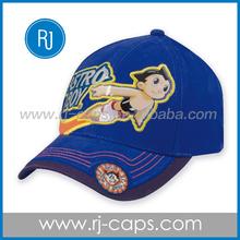 100% coton wholesale fashion cratoon pattern PVC embroidery children felt hats