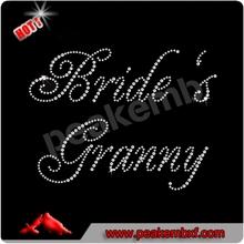 Beautiful Bride's Granny Rhinestones Iron On Patches