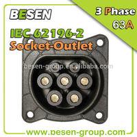 IEC 62196-2 63A EV Charging Socket / Type 2 connector