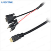 Wholesale 3.5mm jack audio+hdmi cable male to 3 rca video audio av cable