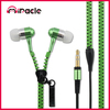 Colorful zipper Earphone, Computer accessories, Durable Mp3 Earphone