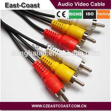 Tighten connectors M/MX3 cable rca audio video