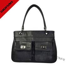 Black leather hand bag, wholesale women bag, handmade leather handbags