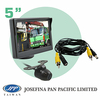 """5"""" monitor car back up butterfly reversing camera kit system with parking line and 5M cable"""