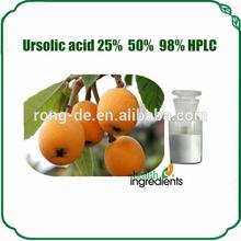 Ursolic Acid 25% 50% 98% for antioxidant&protect liver Folium eriobotryae