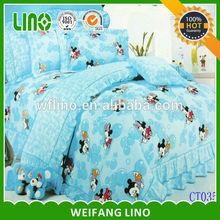 100% cotton comforter baby crib bedding /kid bed sheet