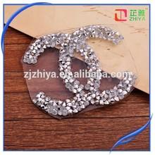 wholesale rhinestone iron on letter stickers glass