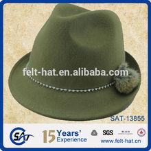 best seller Bavarian Oktoberfest 100% wool felt fedora hat with decorations