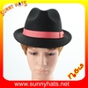 Top quality trendy 100% wool men felt fedora hats by hats factory