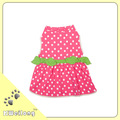 été la mode rose et blanc dot robe de chien/pour animaux de compagnie robe