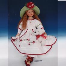 Fashion full dress country enviromental safety material lifelike girl dolls 36''