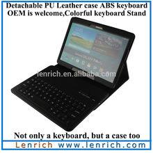 LBK568 High quality PU leather Portfolio Case stand for Samsung Galaxy Tab S 10.5 T800 wireless detachable Bluetooth keyboard