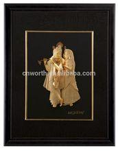 24K Gold Foil Picture Art and Craft Indian 24k gold foil 3d indian god for decration or collection