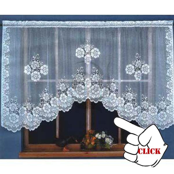 Encajes de ganchillo cortinas patrón para cocina ventanas cortinas ...