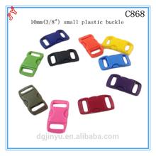 plastic strap buckle/plastic paracord buckle/ side release buckle 3/8 for webbing/bracelet